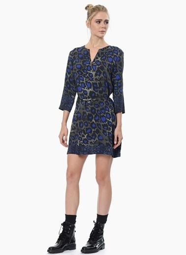 NetWork Truvakar Kol Desenli Mini Elbise Saks